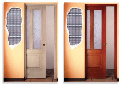 Porte scorrevoli interno parete