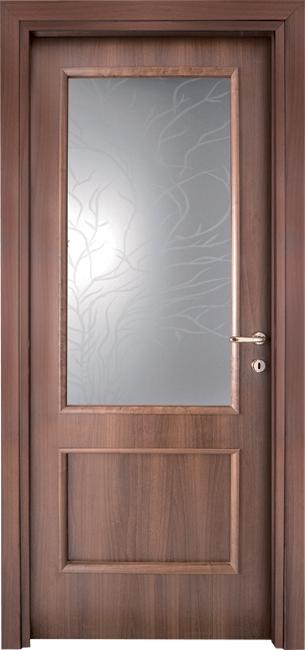 Vetri Per Porte Interne Classiche.Porta Interna In Legno Linea Basic Mod 511 Superiore A Vetro